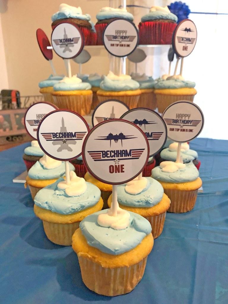 Top Gun Party Cupcake Toppers