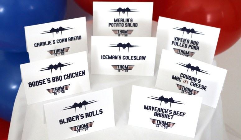Top Gun Birthday Party Decorations and Ideas