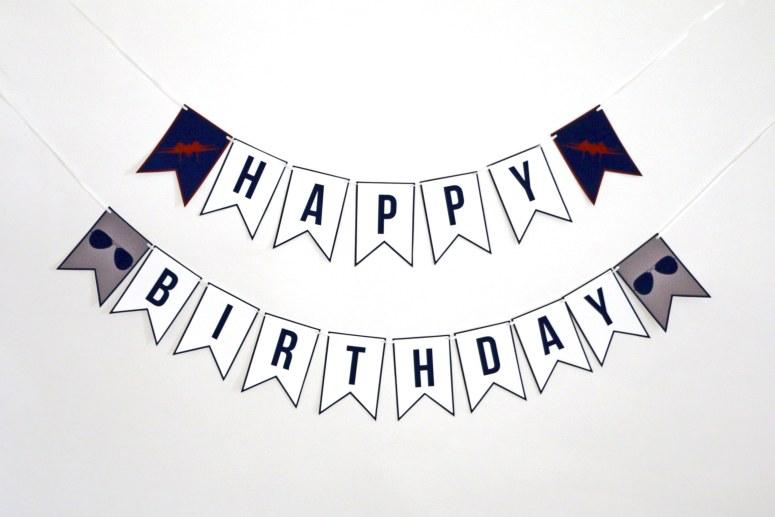 Printable Party Decor: Top Gun Digital Birthday Party Banner