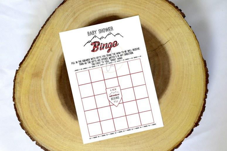 Buffalo Plaid Baby Shower Games: Buffalo Plaid Baby Shower Bingo Game