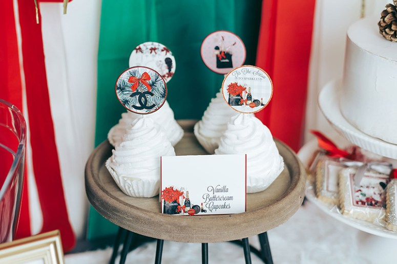 Holiday Party Christmas Cupcakes