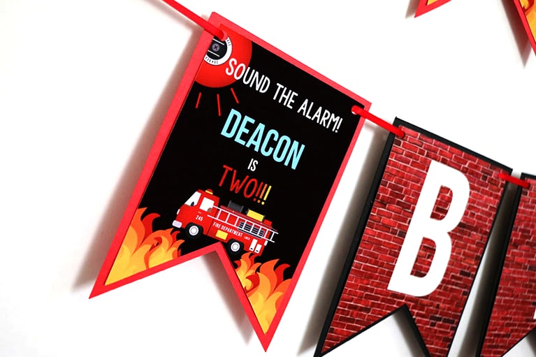 Firefighter Party Decorations: Firefighter Birthday Party Banner