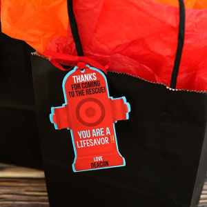 Firefighter Party Supplies: Firefighter Favor Tags