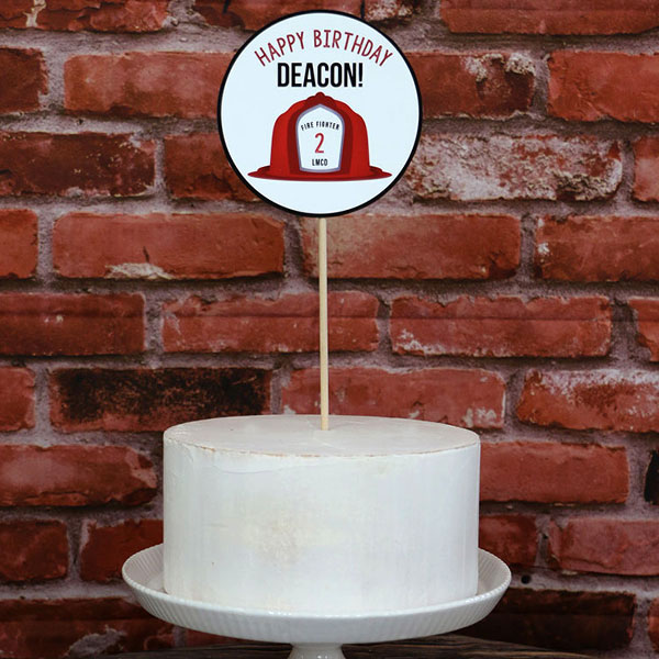 Firefighter Party Supplies: Firefighter Party Cake Topper