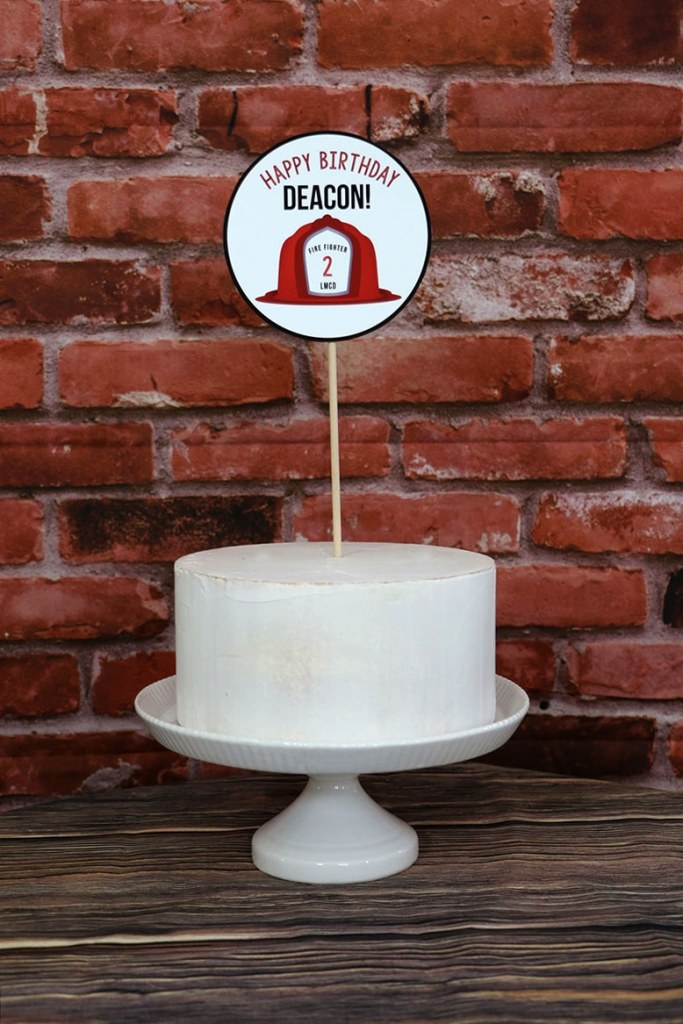 Firefighter party cake Topper