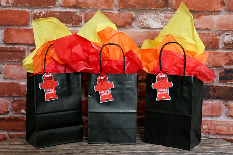 Firefighter Party Supplies: Printable Firefighter Party Favor Tags