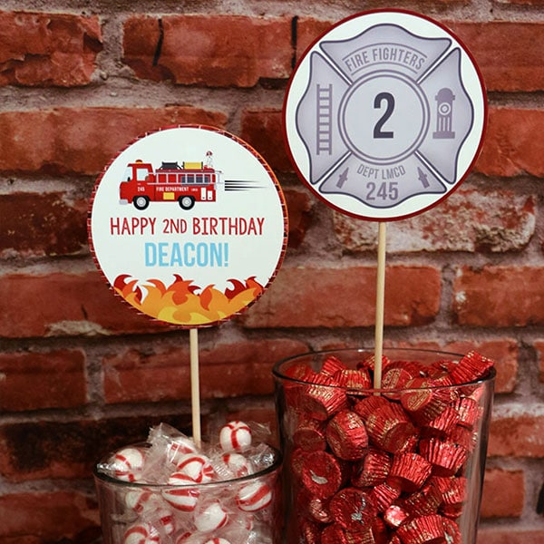 Firefighter Party Supplies: Candy Bar