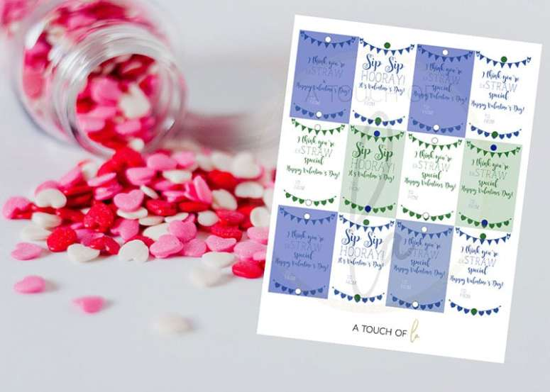 Easy Valentine Ideas :Blue-and-Green-Crazy-Straw-Printables-for-Etsy