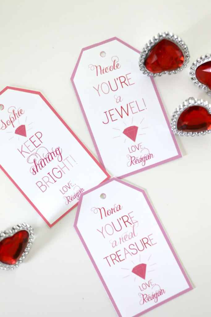 Ring Valentines: Dollar Store Valentine Ideas