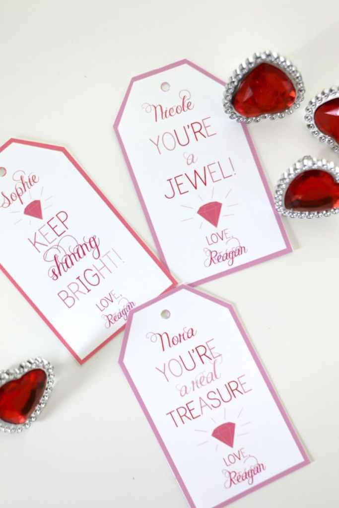 Ring Valentines: Dollar Store Valentine Ideas
