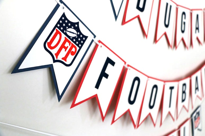 NFL Inspired Party: Football Party Banner