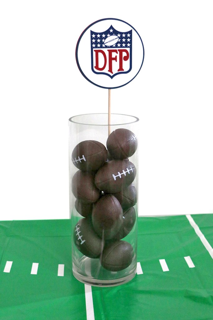 NFL Inspired Party: Football Party Centerpiece Sticks