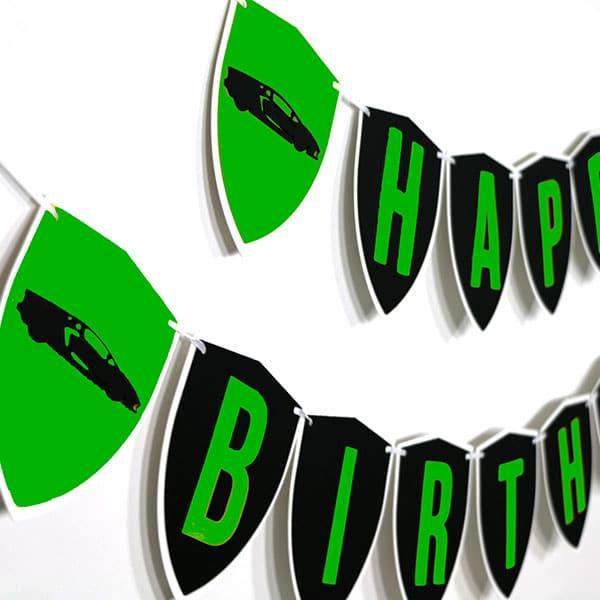 Green Lamborghini Party Decorations