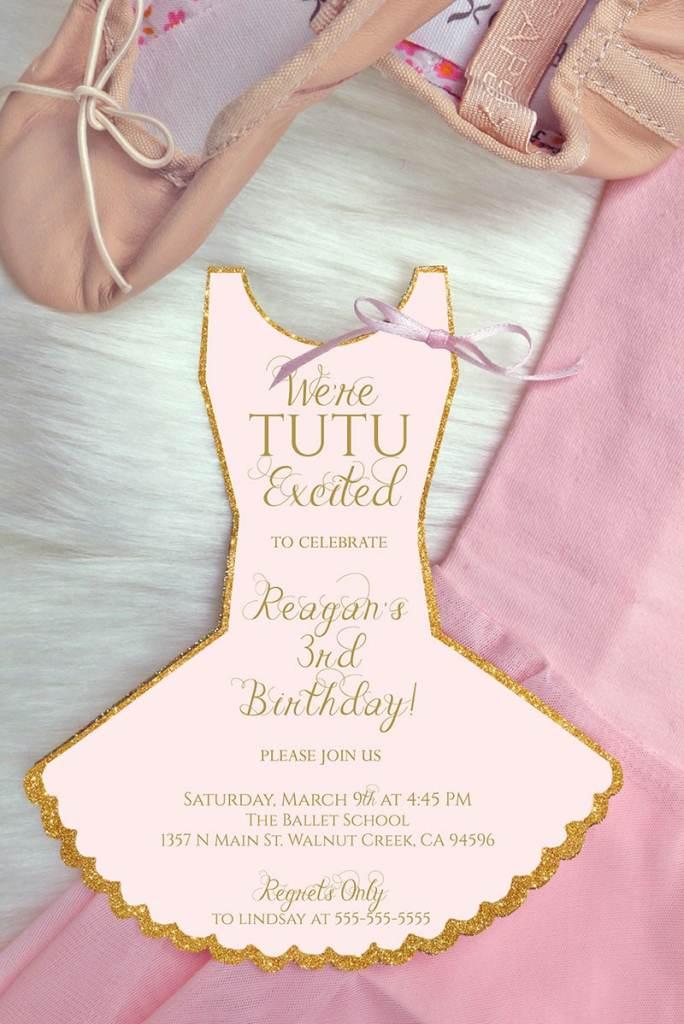 Tutu Ballerina Invitation