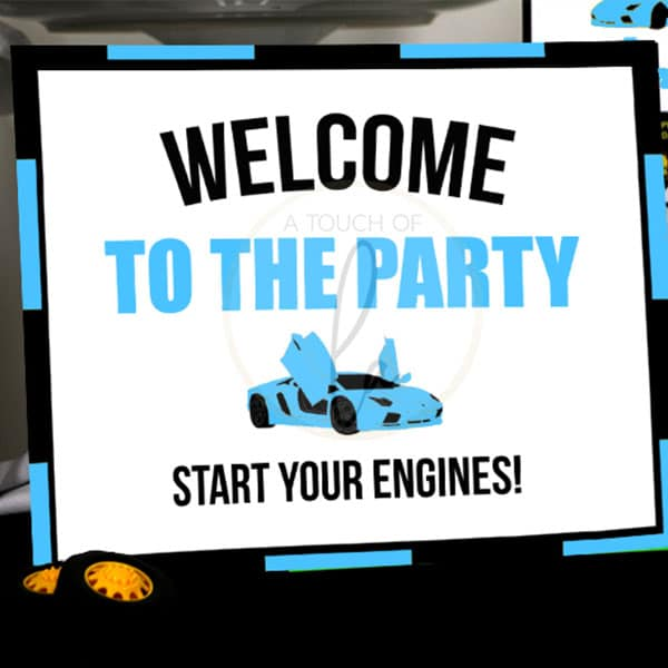 Blue-Supercar-Welcome-Sign