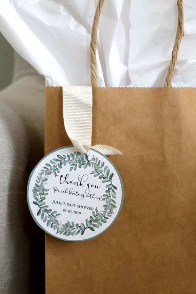 Leaves Baby Shower Favor Tags