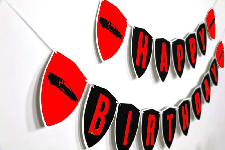 Red lambo birthday party ideas