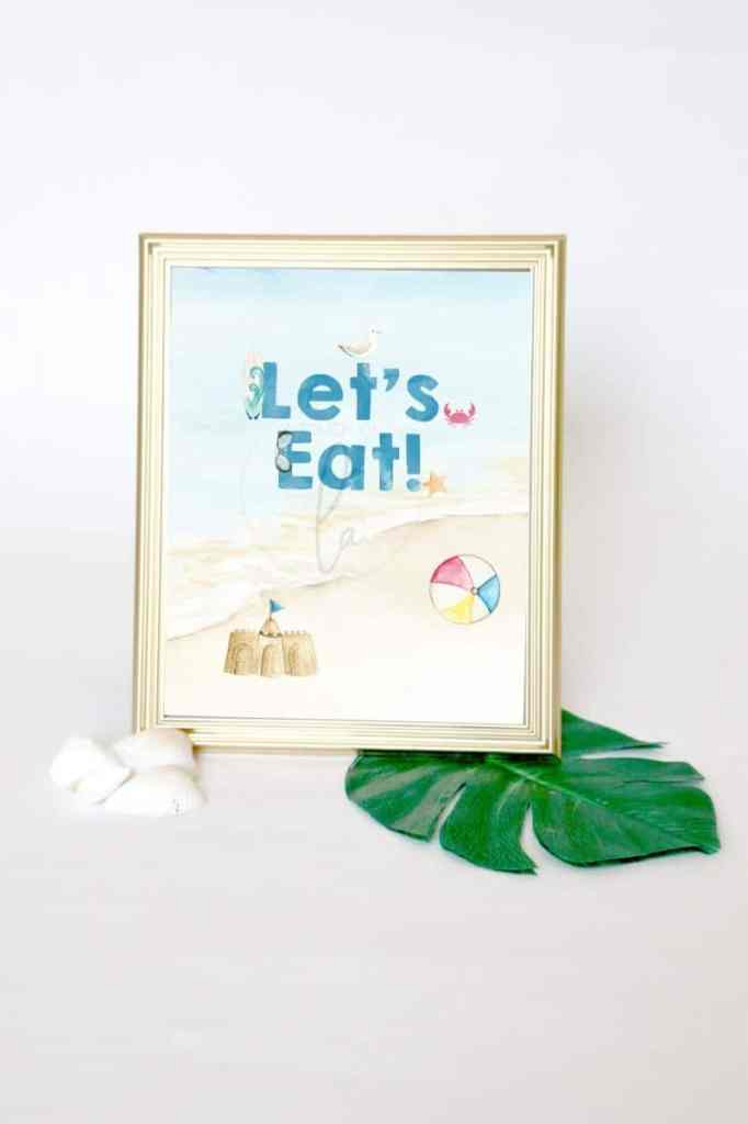 Beach Party Food Signs