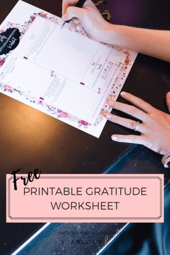 Free Printable Gratitude Worksheet