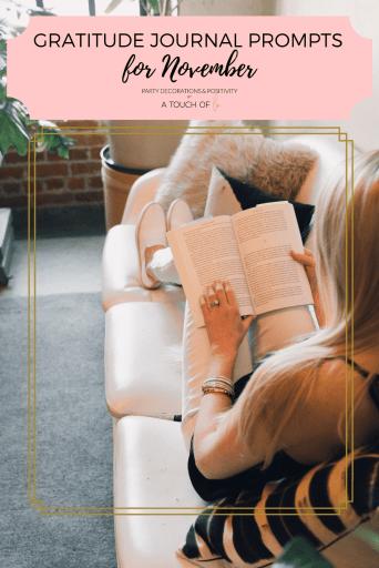 Gratitude Journal Prompts for November
