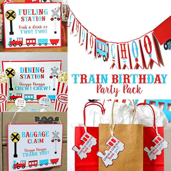 Train Birthday Party Pack