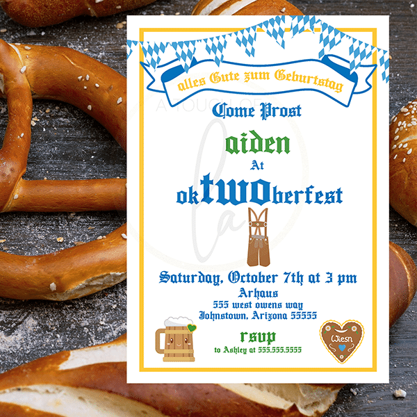 An OkTWOberfest Invitation For Your 2 Year Old