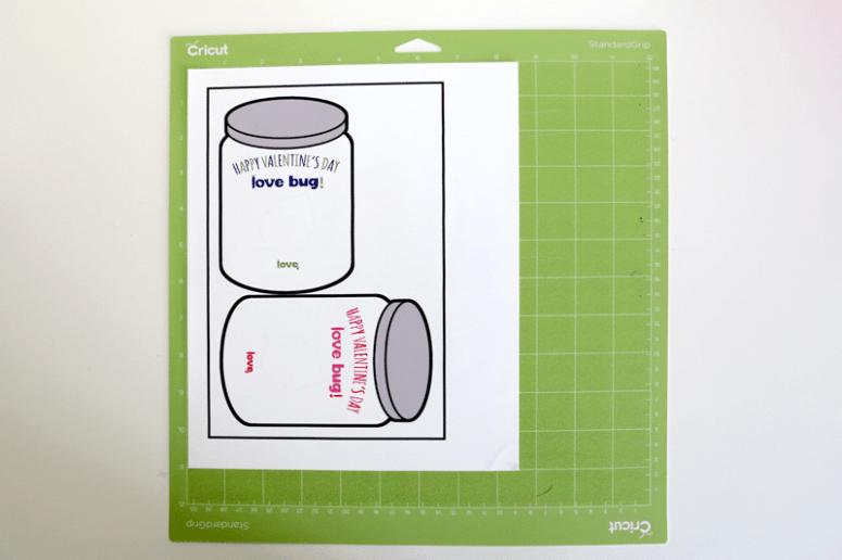 Love Bug Jars for Cricut Valentines