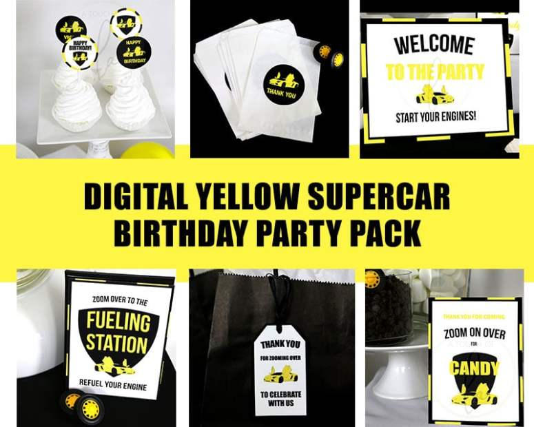 Yellow-Supercar-Birthday-Party-Pack