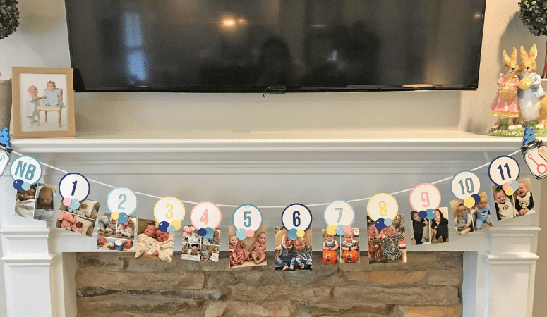 How to Make a 1st birthday Picture Banner