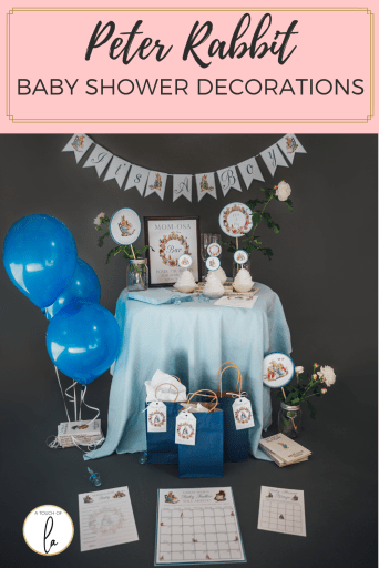 Peter Rabbit Baby Shower Decorations