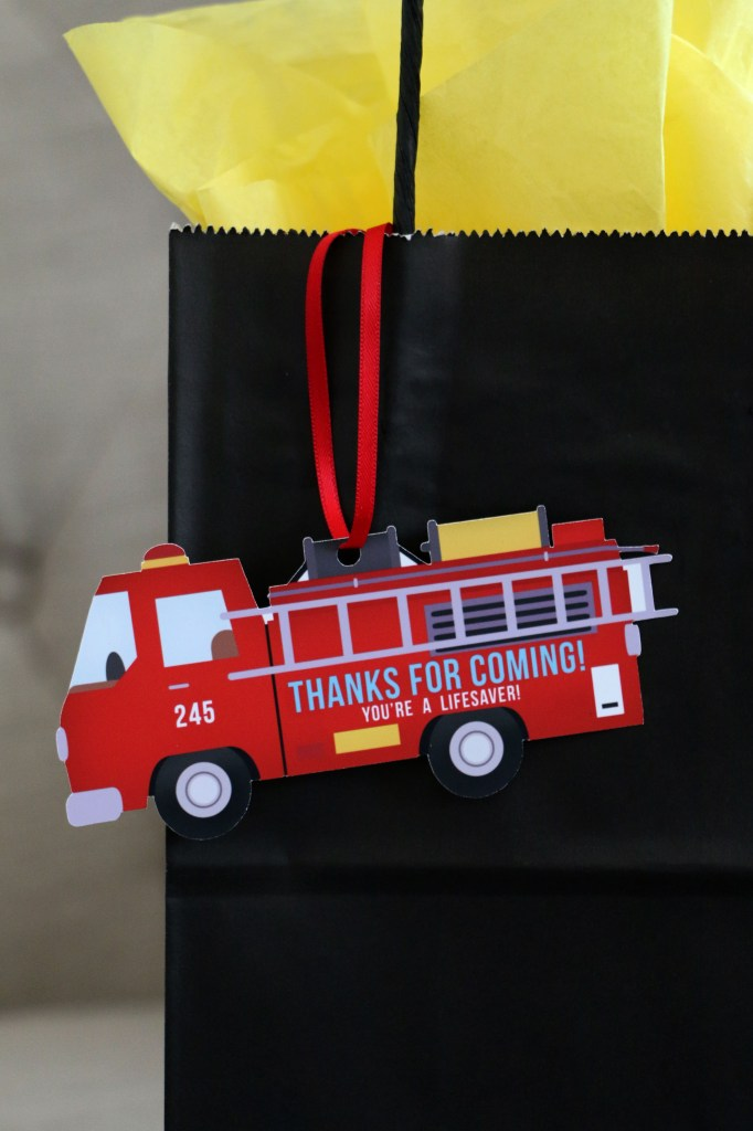 Firefighter Party Tags