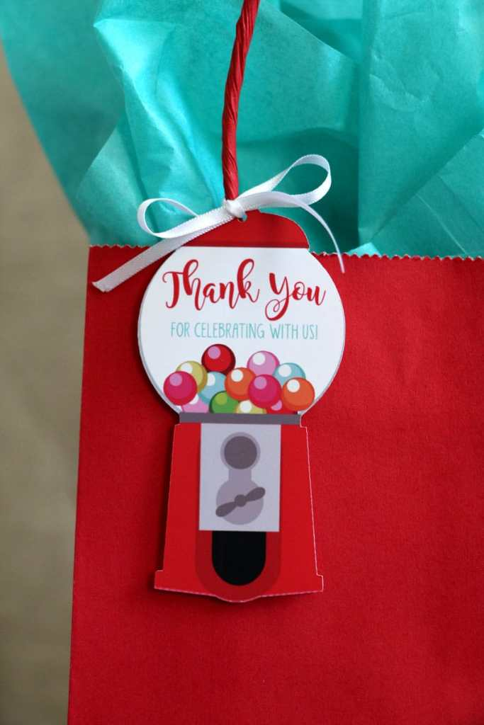 Make Adorable Girls Birthday Tags with Your Cricut: Gumball Party Favor Tags