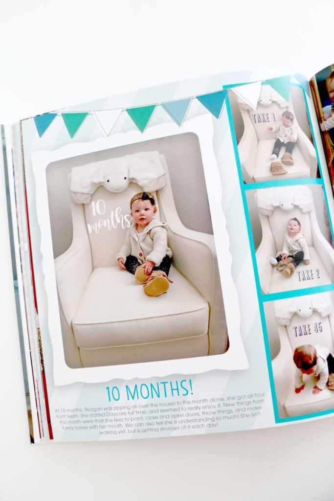 Monthly Updated Photos in Baby Book