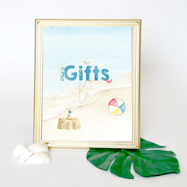 Beach Party Gift Signs