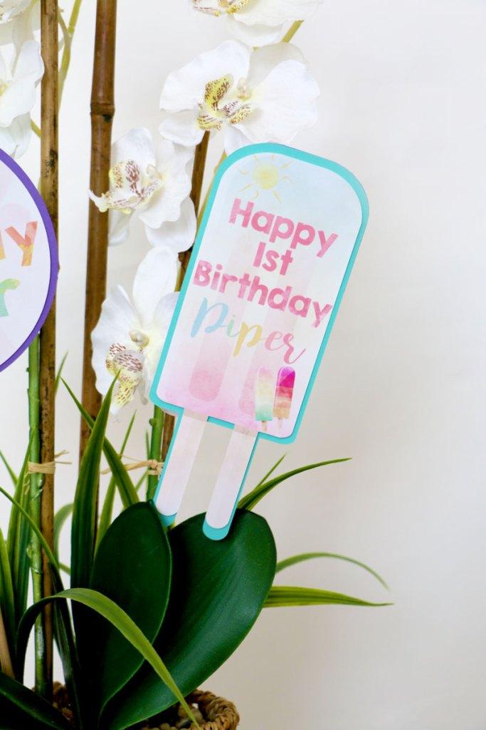 Centerpiece Ideas for Popsicle Party