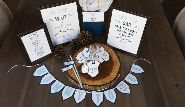 Mountain Baby Shower Decorations