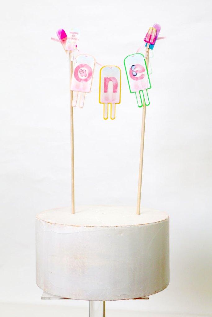Smash Cake For Popsicle Theme