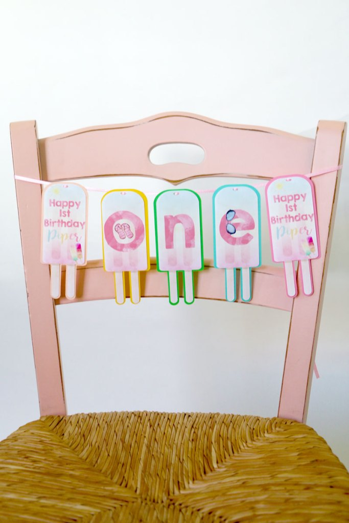 Popsicle Party High Chair Banner