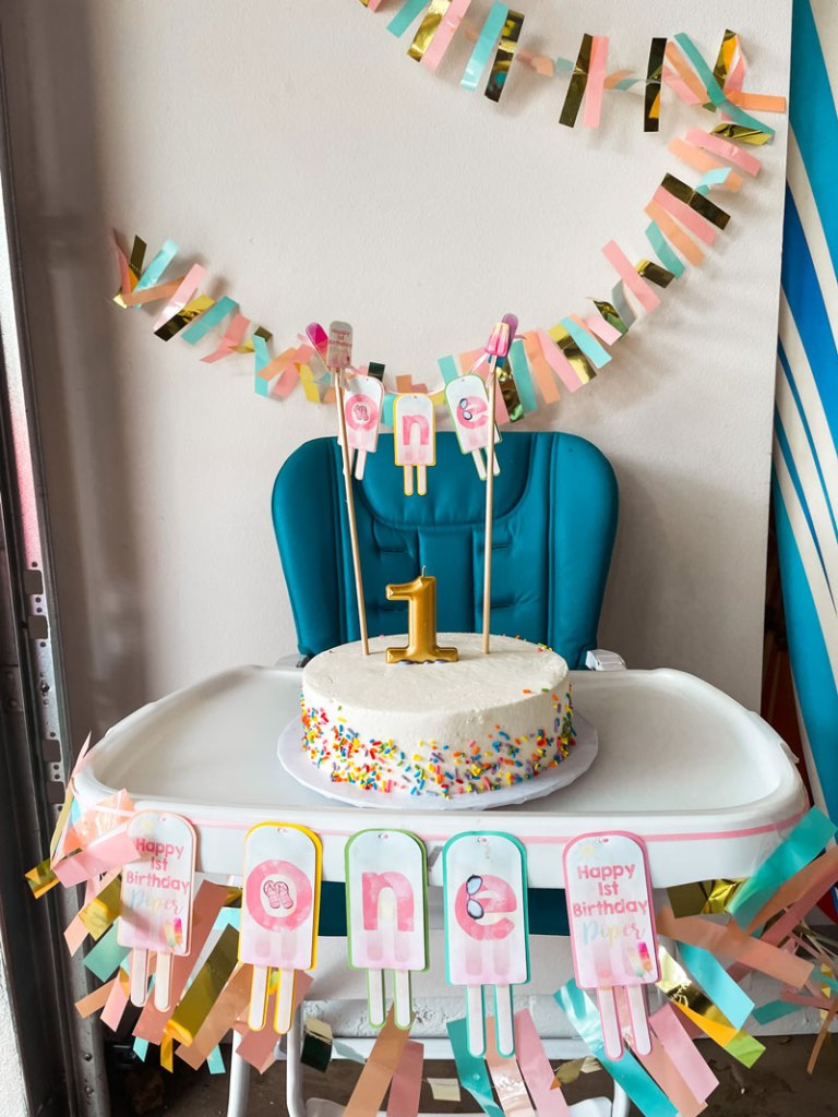 Popsicle Party Smash Cake