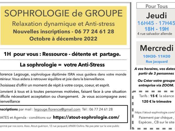 Oullins Lyon Sophrologie de groupe