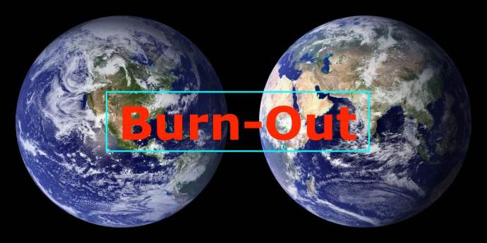 la terre en Burn-out