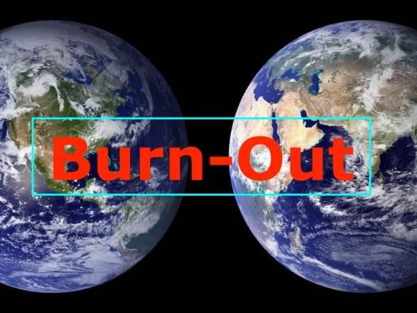la terre en Burn-out