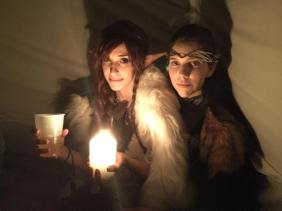 Elves by candlelight