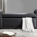 Pu Leather Nail Head Storage Ottoman Bench From Aed 1049 A
