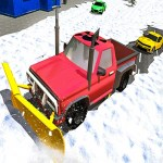 Winter Snow Plow Jeep Driving