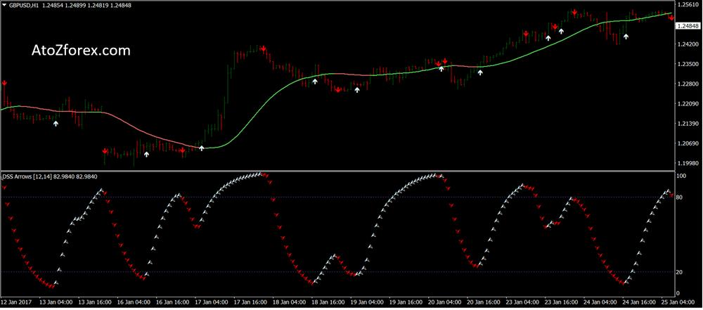 DSS arrow FX momentum strategy
