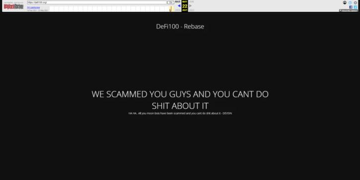 DEFI100 Developers Suspected of $32 Million Exit Scam