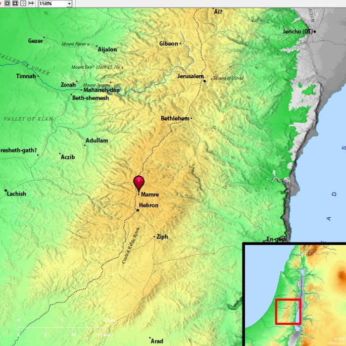 map of mamre bible