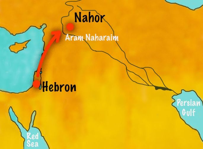 map of nahor where servant finds isaac a wife www.atozmomm.com