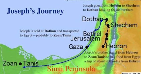 map of joseph sold into slavery www.atozmomm.com